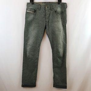 Diesel Mens Safado Jeans Slim Straight 0807M Gray